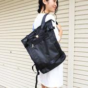 ナイロンスクエアバックパック リュック 鞄 シンプル ベーシック