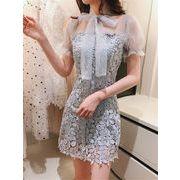 信じられない驚きの大特価 レース 刺繍 ワンピース ドレス 結婚式 発表会お呼ばれ パーティー セレブ
