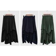 【春夏新作】ファッションスカート♪ブラック/ダークブルー/グリーン3色展開◆