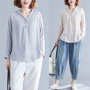 【春夏新作】ファッショントップス♪アンズ/ダークブルー2色展開◆
