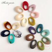 大人カラーのオーバルリングパーツ 全19色 10個 /YM1-1141