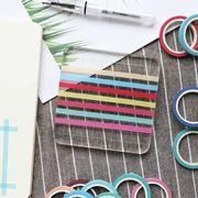 【ファッション新品】 手帳テープ 粘着テープ DIYテープ ハンドメイド 創意文具 単色 24色