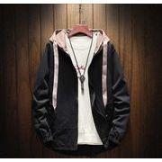 メンズジャケット コート 長袖トップス カジュアル ゆったり ブラック/イエロー/カーキ3色