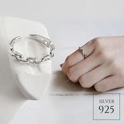 【即納】【リング】1色!シルバー925 チェーンオープンリング指輪 [kgf0510]