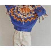 信じられない驚きの大特価 トレンド CHIC気質 縫付 タッセル 厚手 セーター トップス