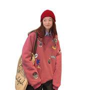 秋冬新しいデザイン731103  大きいサイズ 韓国 レディース ファッション パーカー 4色入  LL-4L