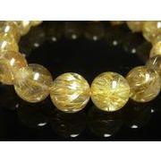 現品一点物 ゴールドタイチンルチル ブレスレット 数珠 12ミリ TKR20 パワーストーン 水晶