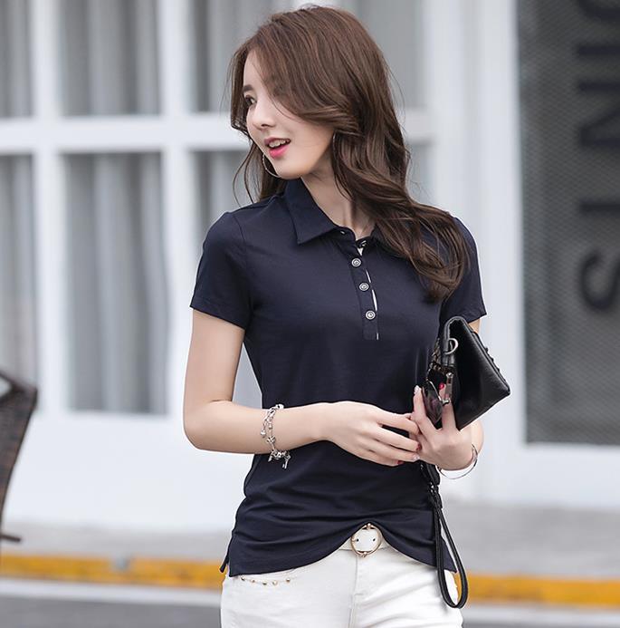 Tシャツ ポロTシャツ 定番 M-4XL 9色 シンプル ブラウス トップス レディース 上着