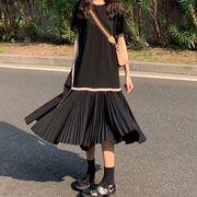 ★最強の新作★韓国ファッション可愛 レディーズ  カジュアル 半袖 ワンピース