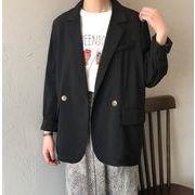 YUNOHAMI テーラードジャケット ブラック オフィスカジュアル レディース トップス通勤オシャレ ベーシック
