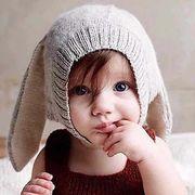 格安!超可愛いベビー帽子★秋冬新作★キッズハット★子供 北欧★ニット帽★暖かい耳あて 兎耳付き 帽子