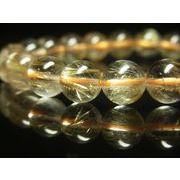 おすすめ 高品質 現品一点物お試し価格 ゴールドルチルブレスレット 天然石 数珠 9-10ミリ RK32