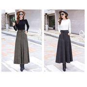 全2色 韓国ファッション可愛い エレガント ハイウエスト フレアースカート