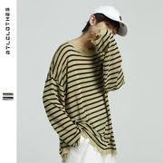 Tシャツ シャツ ニット ジュアル ラウンドネック ボーダー メンズ SALE 2019新作 ファッション 長袖