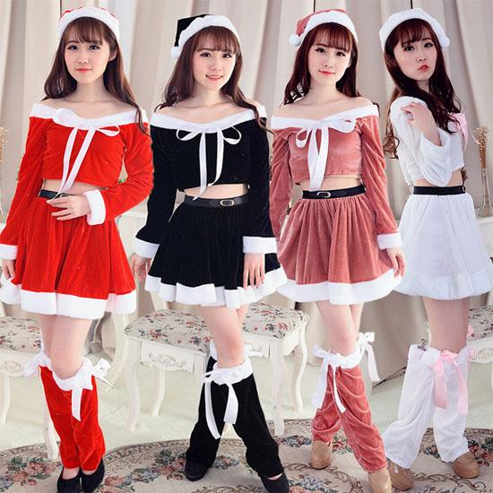 クリスマス  サンタ衣装 クリスマス服  レディース コスプレ 4点セット コスチューム演出服 仮装
