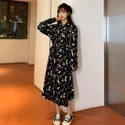 第1 番 ピープル ホーム アーリー 秋 韓国風 中長スタイル ブラック 着やせ ウエス