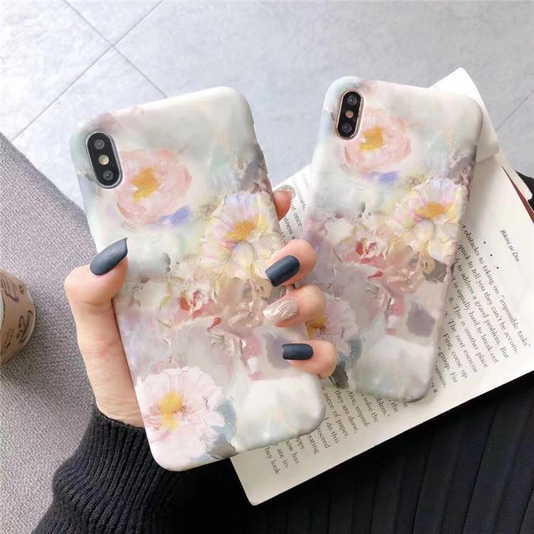 花柄 スマホカバー iPhoneケース オシャレ iPhone XS Max ケース