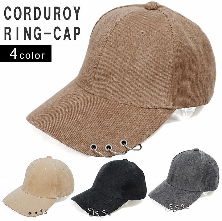 帽子 キャップ メンズ レディース コーデュロイ ベースボールキャップ リング付き 春夏秋冬 キーズ Keys