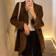クーポン適用でお得に  おしゃれな トレンド CHIC気質 秋物 スリムフィット百掛け スーツ コート
