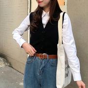 秋 新しいデザイン 韓国風 着やせ 着やせ ニットベスト 女 アウトドア 薄いスタイル