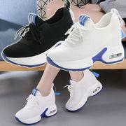 スニーカー レディース 厚底 ローカット 歩きやすい 通気性 軽量 スポーツ靴 脚長 美脚