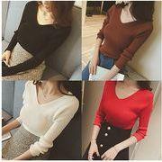 【大きいサイズXL-4XL】【秋冬新作】ファッション/人気セーター♪全4色◆