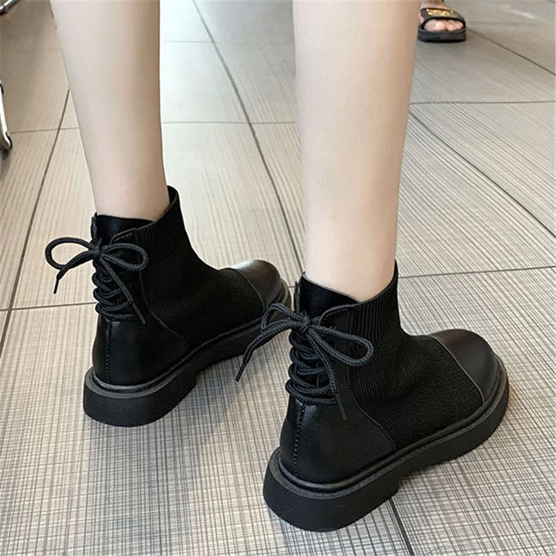 初回送料無料 2019 ハングルセレブstyle 編みあげ 靴 ショート ブーツ cjozy-1908a986