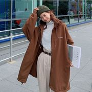 【大きいサイズ】ファッション/人気コート♪グレー/ブラウン2色展開◆