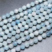 連 アクアマリン カット 4mm 天然石 パーツ 素材 ハンドメイド パワーストーン