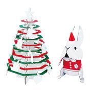 hacomo kids クリスマスツリー&うさぎ ダンボール工作キット
