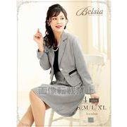 【Belsia】大きいサイズ完備!! simple千鳥柄フレアーセットアップスーツ 2pキャバクラスーツ*503052