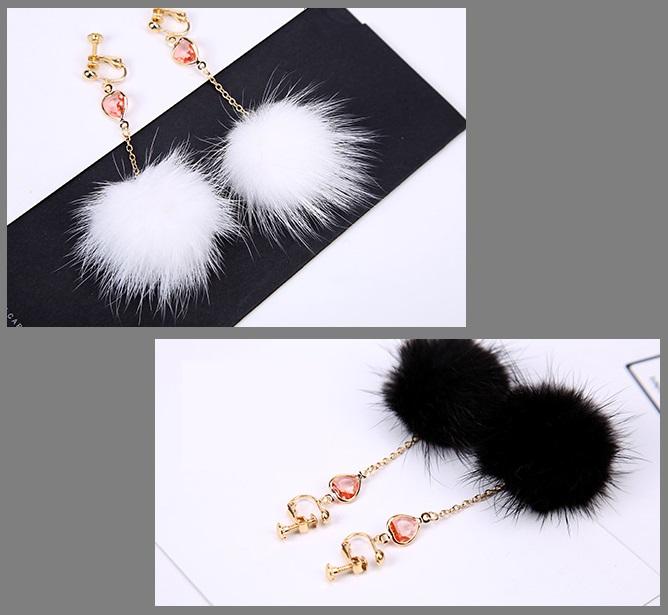 【秋冬アクセサリー】ボリュームアップ ミンクファー(毛先を含めて約50mm) ゴムの輪付き