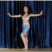 子供ベリーダンス ベリースセット パーティー ダンスセット 練習服 団体服 人魚ショー