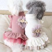 秋冬新作 ワンピース 犬服 ドッグウェア 犬 猫 ペット  ペット用品(XS-XL)