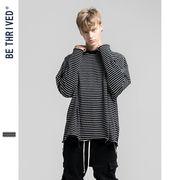 メンズ シャツ Tシャツ ボーダー ラウンドネック SALE 2019新作 ファッション 長袖Tシャツ 動画あり