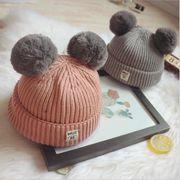 2019冬の新品★大人気ハット★子供毛糸の帽子★可愛い赤ちゃんニット帽子★