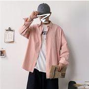 【大きいサイズM-5XL】ファッション/人気ワイシャツ♪ピンク/イエロー2色展開◆