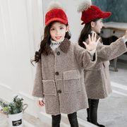 秋冬新作 フワフワコート 女の子 子供 キッズ ジャケット 100-150 コート
