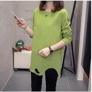【大きいサイズ】ファッション/人気トップス♪ホワイト/ブラック/グリーン3色展開◆