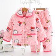 子供服 部屋着 冬 厚手 80-150cm 選べる8色 セットアップ 男女兼用 ホームウェア パジャマ
