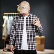 【大きいサイズM-5XL】ファッション/人気ワイシャツ♪アカ/ブラック2色展開◆