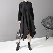 u15073 レディース 長袖  大きいサイズ ロング ブラウス スカート トップス ワンピース  チュニック ドレス