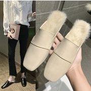 2019秋新作 靴 ミュール シンプル 気質 韓国ファッション ファー レディース
