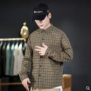 【大きいサイズM-5XL】ファッション/人気ワイシャツ♪ブラウン/グリーン2色展開◆