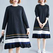 【秋冬新作】ファッションワンピース♪ブラック/ブラック2色展開◆