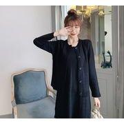 【大きいサイズL-4XL】ファッション/2枚セットワンピース♪ホワイト/ブラック2色展開◆