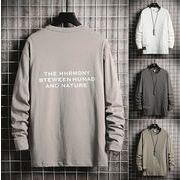 メンズTシャツ カットソー トップス カジュアル 長袖 全4色