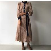 韓国ファッション エレガントスタイル ワンピース ヴィンテージ風 レトロ ワンピース可愛 レディーズ