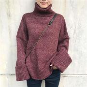 5色★韓国ファッション ニット ハイネックセーター ゆったり
