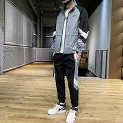 【大きいサイズM-4XL】ファッション/人気/上下セットトップス♪グレー/ブラック2色展開◆